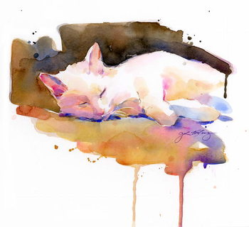 Obraz na płótnie Snowball sleeping, 2014,
