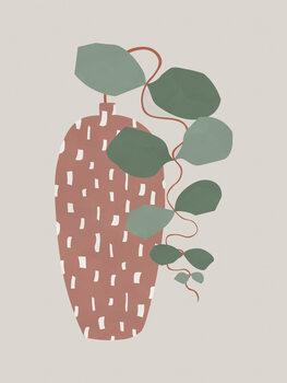 Obraz na płótnie Terrazzo & Leaves