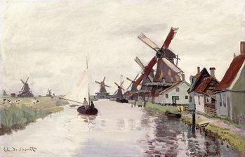 Obraz na płótnie Windmill in Holland, 1871