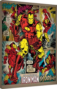 Iron Man - Retro Obraz na płótnie