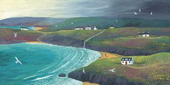 Jo Grundy - Coastal Hills Obraz na płótnie