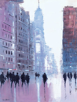 Jon Barker - Manhattan Reflections Obraz na płótnie