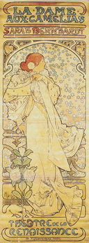 """""""La Dame aux Camélias"""", with Sarah Bernhardt, 1890-1910 Obraz na płótnie"""
