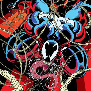 Venom - Symbiote free fall Obraz na płótnie
