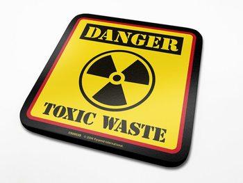 Podtácek Danger Toxic Waste