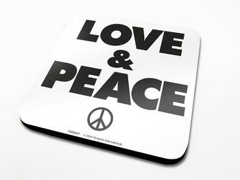Podtácek Love & Peace