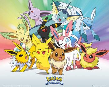 Pokemon - Eevee - плакат (poster)