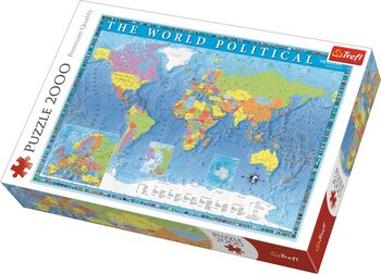 Pussel Political Map of the World