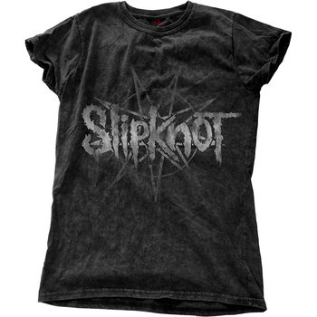 Slipknot - LOGO STAR WITH SNOW WASH FINISHING Póló