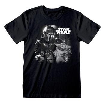 Star Wars: The Mandalorian - BW Photo Póló