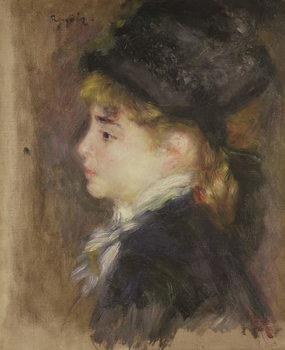 Portrait of a woman, possibly Margot, c.1876-78 Festmény reprodukció