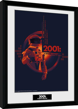2001 A Space Odyssey - Graphic Inramad poster