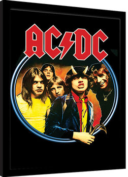 Inramad poster AC/DC - Group