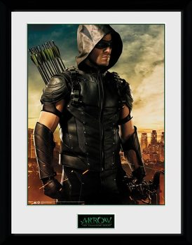 Inramad poster Arrow - Oliver