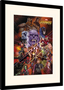 Avengers Infinity War - Gauntlet Character Collage Inramad poster