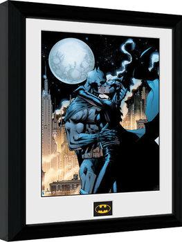 Inramad poster Batman Comic - Moonlit Kiss