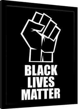 Inramad poster Black Lives Matter - Fist