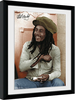 Bob Marley - Rolling Inramad poster