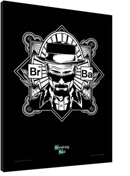 BREAKING BAD - obey heisenberg Inramad poster