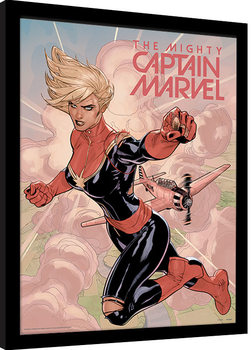 Captain Marvel - Flight Inramad poster