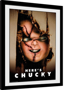 Inramad poster Chucky - Here's Chucky