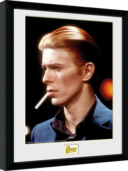 David Bowie - Smoke Inramad poster
