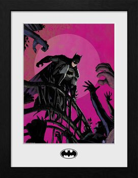 Inramad poster DC Comics - Batman Arkham