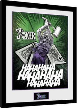 Inramad poster DC Comics - Joker Cards