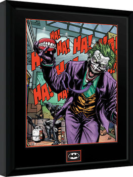 DC Comics - Joker Teeth Inramad poster