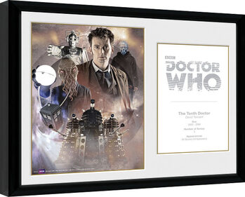 Inramad poster Doctor Who - 10th Doctor David Tennant