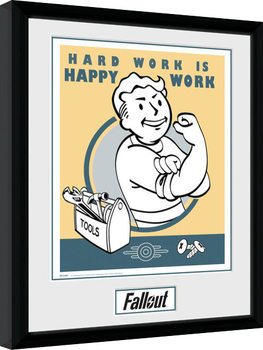 Fallout - Hard Work Inramad poster