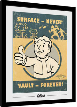 Inramad poster Fallout - Vault Forever