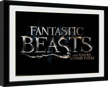 Fantastic Beasts - Logo Inramad poster