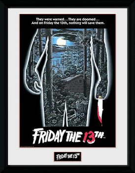 Friday The 13th - Warning Inramad poster