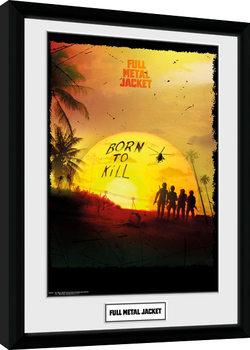 Full Metal Jacket - Born To Kill Inramad poster