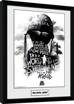 Full Metal Jacket - I Am Not Afraid Inramad poster