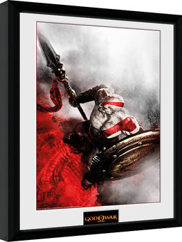 God of War - Kratos Sparta Wing Inramad poster