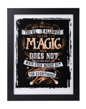 Inramad poster Harry Potter - Allowed Magic