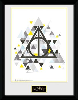 Harry Potter - Deathly Pixels Inramad poster