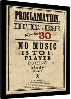 Inramad poster Harry Potter - Educational Decree No. 30