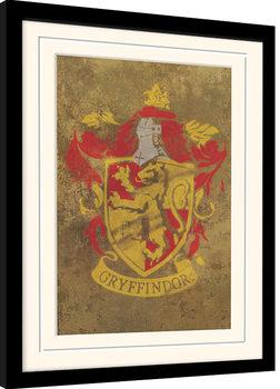 Inramad poster Harry Potter - Gryffindor Crest