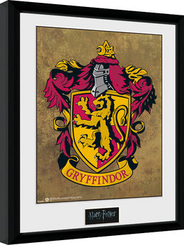 Inramad poster Harry Potter - Gryffindor