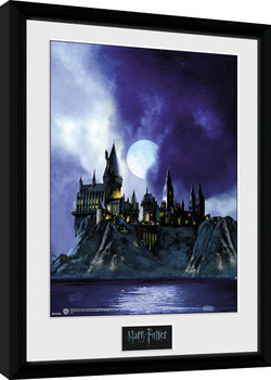 Inramad poster Harry Potter - Hogwarts Painted