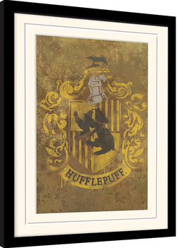 Inramad poster Harry Potter - Hufflepuff Crest