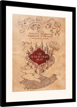 Inramad poster Harry Potter - Marauder's Map