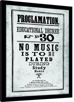 Harry Potter - Proclamation Inramad poster