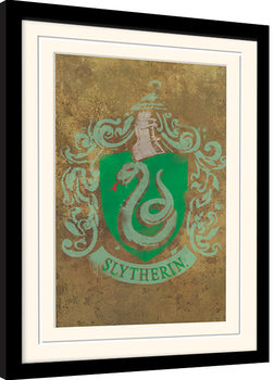 Inramad poster Harry Potter - Slytherin Crest