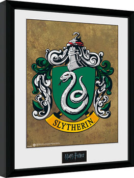 Inramad poster Harry Potter - Slytherin