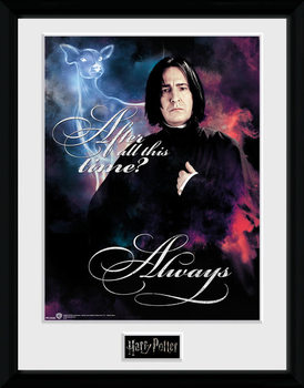 Harry Potter - Snape Always Inramad poster