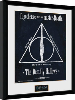 Inramad poster Harry Potter - The Deathly Hallows